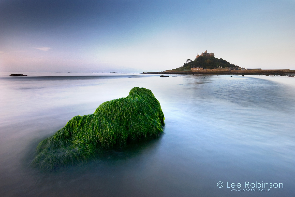 Photograph of Dawn at St Michael's Mount, Marazion, Cornwall, UK, by lee robinson